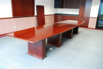 22' Cherry Veneer Conference Table