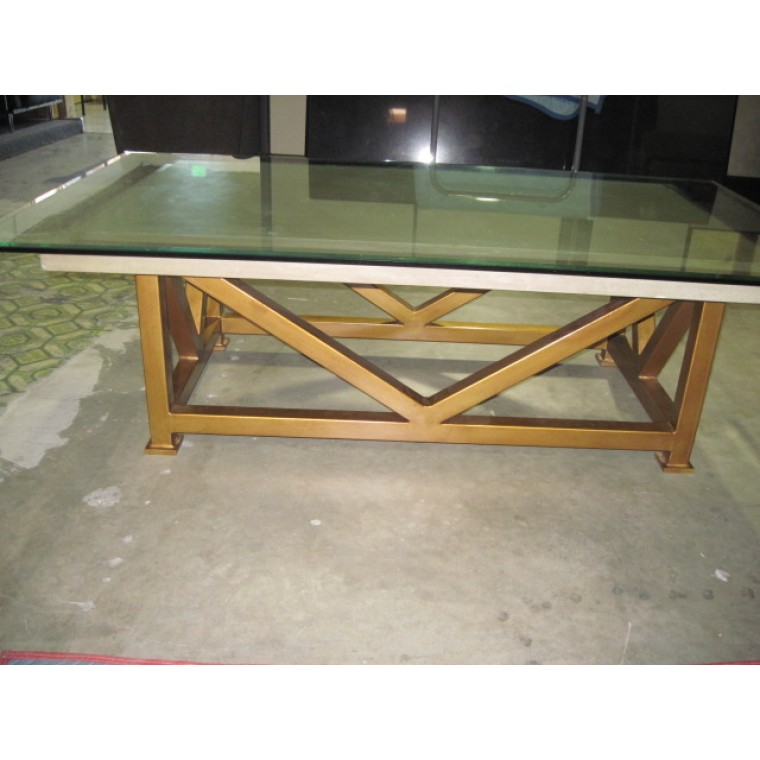 Used glass stone coffee table used tables used Used glass coffee table