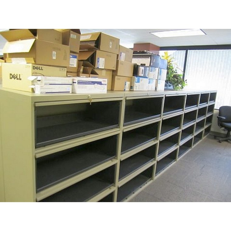 Used Steelcase 4 Drawer Flip Front Lateral File Cabinet