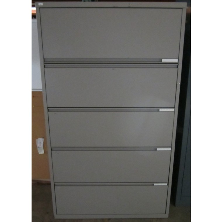 Meridian 5 drawer lateral file used storage used for Meridian cabinets
