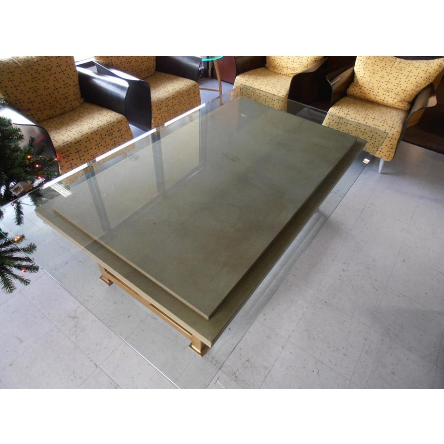 Used Glass Stone Coffee Table