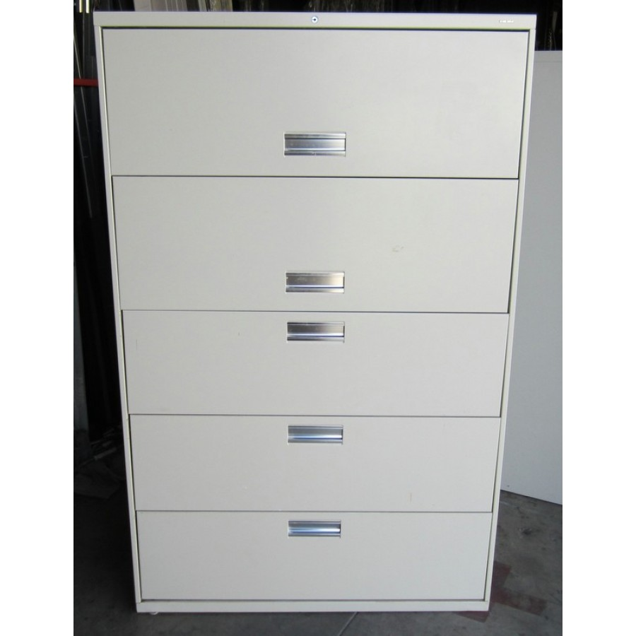 Hon 5 Drawer Flip Door Lateral File Used Storage Used