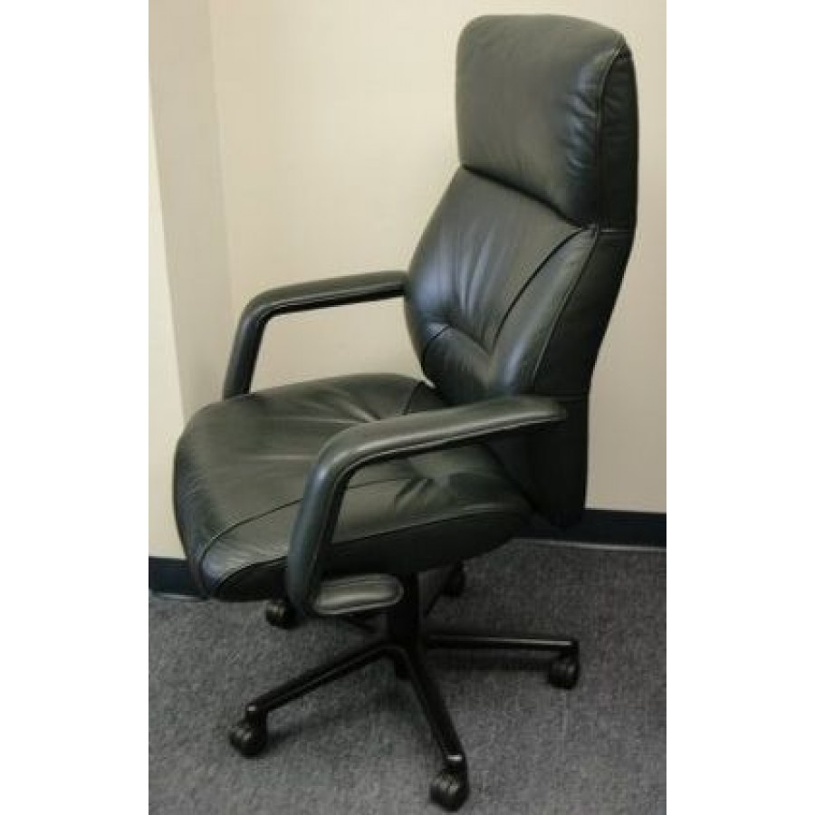 Miraculous Keilhauer Highbacked Conference Chair In Dark Teal Leather Caraccident5 Cool Chair Designs And Ideas Caraccident5Info
