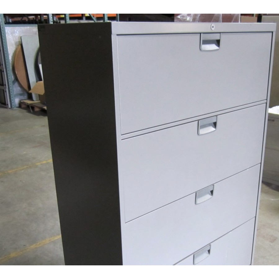 steelcase 4 drawer lateral file - used storage
