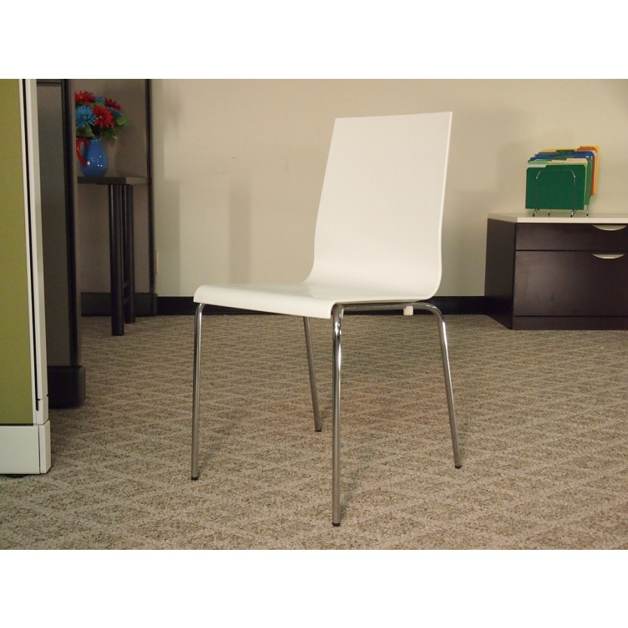 White SideLunchroom Chair Side Chairs Used Seating Used
