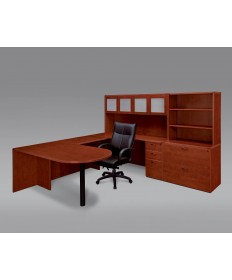U-Shape Desk With Hutch