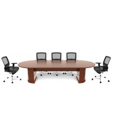 Veneer Racetrack Conference Table