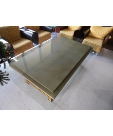 Used Glass & Stone Coffee Table