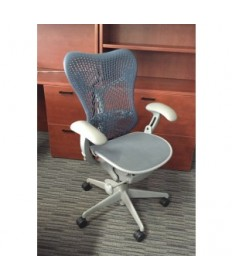 Herman Miller Mirra Blue Grey Chair