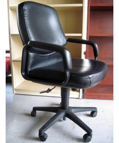 Used Hon Mid-Back Leather Executive Chair